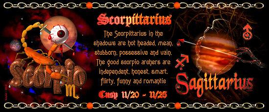 Scorpio Sagittarius cusp